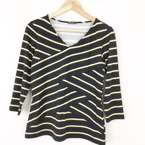 J. McLaughlin Striped Catalina Cloth Top Blouse